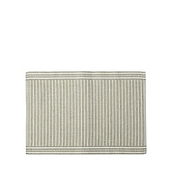 RJR.John Rocha - Designer grey cotton ribbed placemats