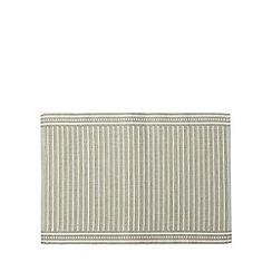 RJR.John Rocha - Designer grey cotton ribbed placemats