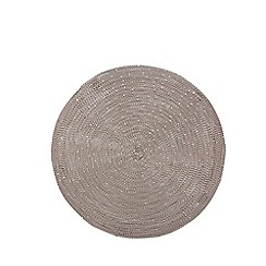 RJR.John Rocha - Silver round metal set of 2 placemats