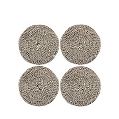 RJR.John Rocha - Set of four round metal coasters