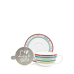 Ben de Lisi Home - Multi-coloured cappuccino cup and saucer set
