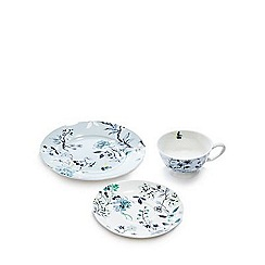 Butterfly Home by Matthew Williamson - Cream floral fine china tea cup set