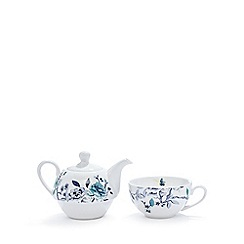 Butterfly Home by Matthew Williamson - Cream floral fine china tea for one set