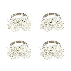 Star by Julien MacDonald - Designer set of four beaded napkin rings