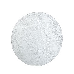 Star by Julien MacDonald - Designer set of two round glitter lace glass placemats