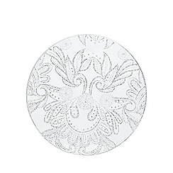 Star by Julien MacDonald - Designer set of four round glitter lace glass coasters