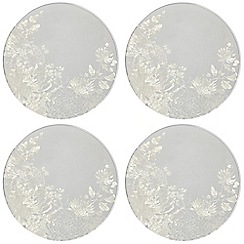 Star by Julien MacDonald - Designer set of four round floral glass coasters
