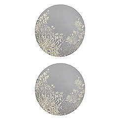 Star by Julien MacDonald - Designer set of two round floral glass placemats
