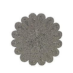 Star by Julien Macdonald - Silver beaded placemat