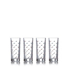 At home with Ashley Thomas - Pack of four spotted hi-ball glasses