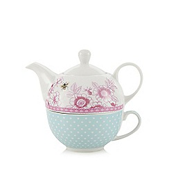 At home with Ashley Thomas - Porcelain 'Country Garden' tea for one