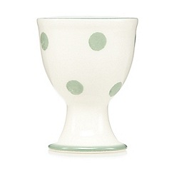 At home with Ashley Thomas - Light green spotted earthenware egg cup