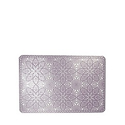 At home with Ashley Thomas - Lilac vinyl lace placemat