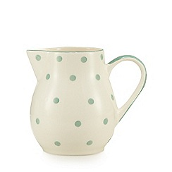 At home with Ashley Thomas - Light green polka dot jug