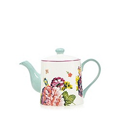 At home with Ashley Thomas - White floral large tea pot