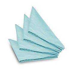 Home Collection Basics - Set of four blue napkins