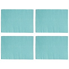 Home Collection Basics - Pack of 4 blue ribbed placemats