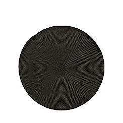 Home Collection Basics - Black woven placemat