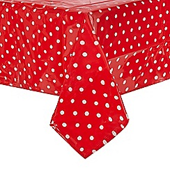 Home Collection Basics - Red spotted rectangle small tablecloth