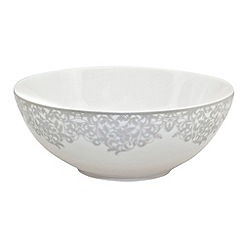 Denby - 'Filigree' silver soup and cereal bowl