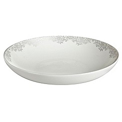 Denby - 'Monsoon Filigree Silver' pasta bowl
