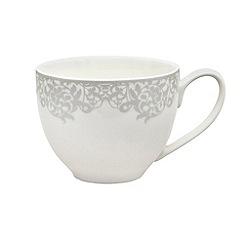 Denby - 'Filigree' silver teacup