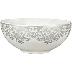 Denby - 'Monsoon Filigree Silver' dessert bowl