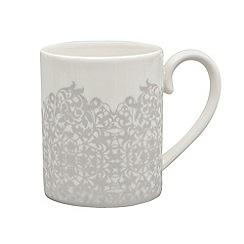 Denby - 'Filigree' silver can mug