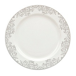 Denby - 'Monsoon Filigree Silver' pastry plate