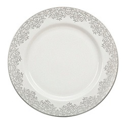 Denby - 'Filigree' silver dinner plate