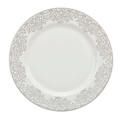 Denby - 'Monsoon Filigree Silver' salad plate
