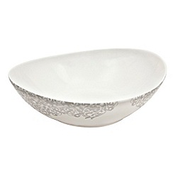 Denby - 'Filigree' silver serving bowl