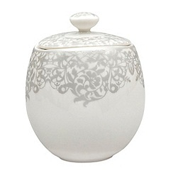 Denby - 'Filigree' silver covered sugar