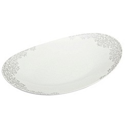 Denby - 'Filigree' silver large oval platter