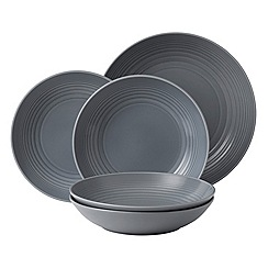 Gordon Ramsay By Royal Doulton - Maze dark grey 5 piece pasta set
