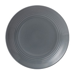 Gordon Ramsay By Royal Doulton - Maze dark grey plate 28cm
