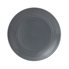 Gordon Ramsay By Royal Doulton - Maze dark grey plate 22cm