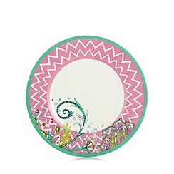 Butterfly Home by Matthew Williamson - Designer set of four melamine zig zag picnic plates