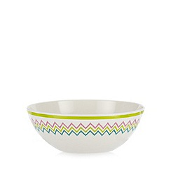 Butterfly Home by Matthew Williamson - Set of four melamine lime painted zig zag bowl