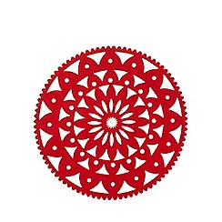Debenhams - Red snowflake felt placemat