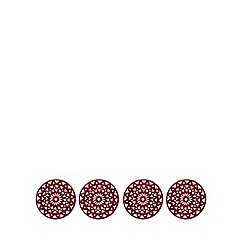 Debenhams - Set of four red snowflake felt placemats