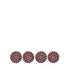 Debenhams - Set of four red snowflake felt placemats