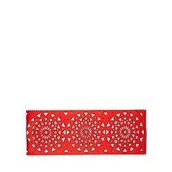 Debenhams - Red snowflake felt runner