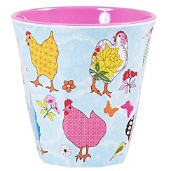 Rice - Medium cup with hen print
