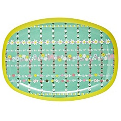Rice - Rectangular melamine plate with retro print