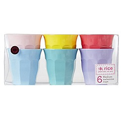 Rice - Medium curved cups in 6 assorted colours
