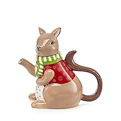 At home with Ashley Thomas - Brown Christmas squirrel teapot