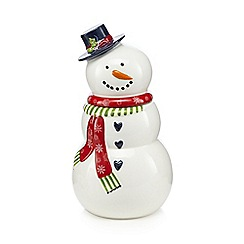 At home with Ashley Thomas - White snowman cookie jar