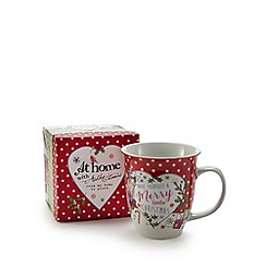 At home with Ashley Thomas - Red Christmas spotted mug with gift box
