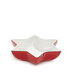 At home with Ashley Thomas - Red star nibble bowl